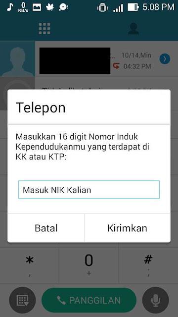 Setelah itu masukan 16 digit Nomor Induk Kependudukan (NIK) yang ada di KK maupun di KTP