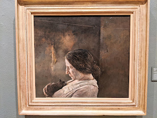 Miss Olsen painting