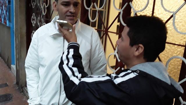 COLOMBIA: Entrevista con candidato a edil por la localidad la Candelaria Jhon Alfredo Marin en Bogotá.
