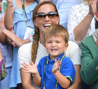 Novak S Wife Jelena Djokovic With His Son