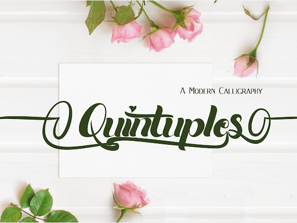 Quintuples Modern Calligraphy Font Free Download