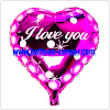 Balon Foil Hati I Love You Pinky / Foil Love Pinky