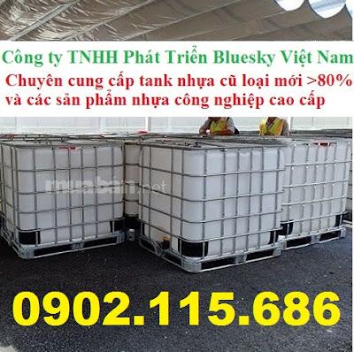 N5%2B%25281%2529 Tank nhựa IBC cũ, tank đựng hóa chất 1000l, tank đựng nước công trình 1000l, tank đựng xăn