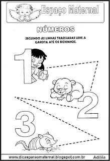 Atividade numerais maternal