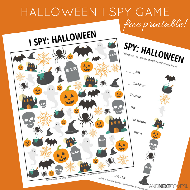 image about Free Halloween Printable named Halloween Themed I Spy Activity Absolutely free Printable for Young children And