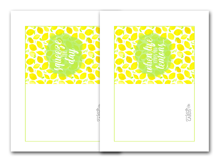Lemon Greeting Card Printables