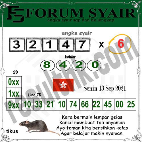 Forum syair hk Senin 13 September 2021