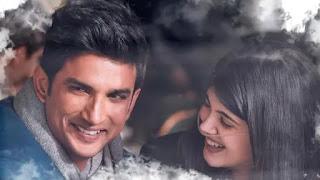 sushant singh rajput and sanjana sanghi in film 'dil bechara' song 'khul ke jeene ka'