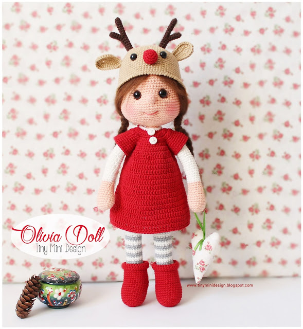 Crochet Mini Doll Pattern : Amigurumi Olivia Doll - Knitting, Crochet, Diy, Craft ...