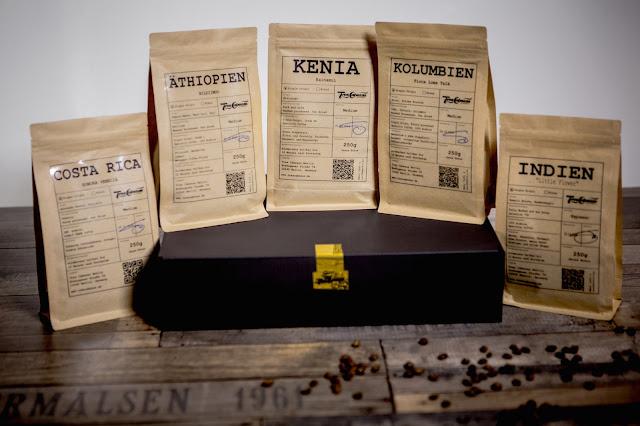 Geschenkbox mit besten Kaffeebohnen
