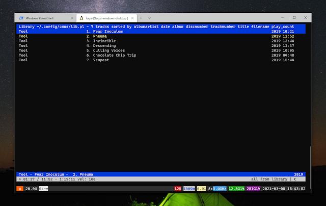cmus windows terminal wsl2