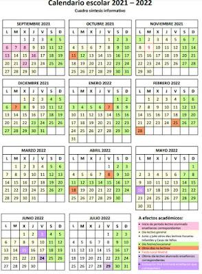 calendario escolar madrid curso 2021 2022