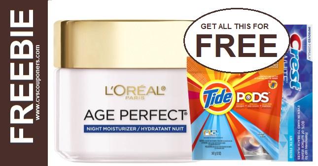 FREE L'Oreal Age Perfect Moisturizer CVS 7-26-8-1