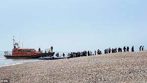Record Number of Migrants Cross English Channel in One Day
