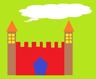 Ryan memo: win7內建小畫家畫的城堡,金龜車