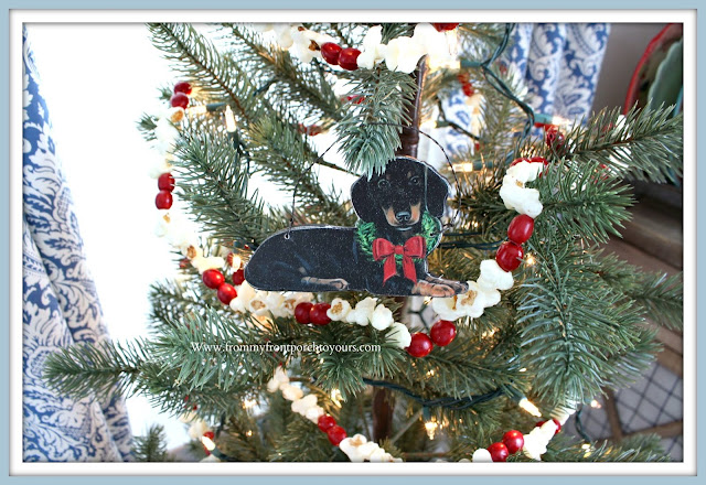 Christmas Farmhouse Cottage Breakfast Nook-Dachshund-Christmas-Ornament- From My Front Porch To Yours