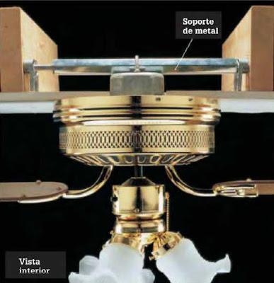 Instalaciones eléctricas residenciales - Soporte de metal para ventilador