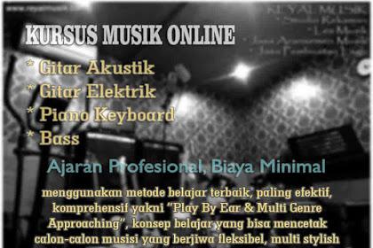 Kursus / Les Musik Online Gitar, Piano Keyboard, Bass Terbaik Biaya Murah