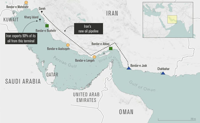 #Iran to Start Oil Exports From Port Skirting Troubled Strait - Bloomberg