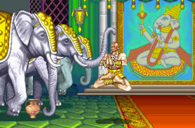Dhalsim nel suo stage di ''Street Fighter II''
