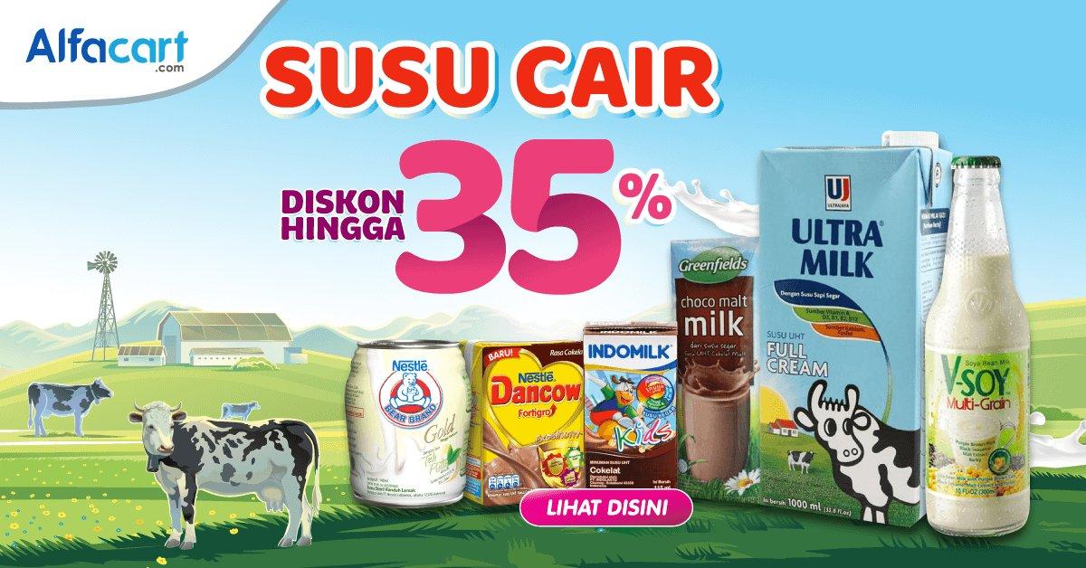 Alfamart - Promo Susu Cair Bisa Diskon s.d 35% di Alfacart