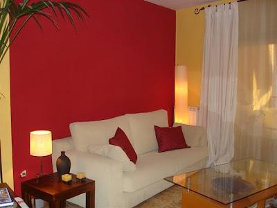 Decoracion actual de moda paredes pintadas de dos colores - Decoracion forja pared ...