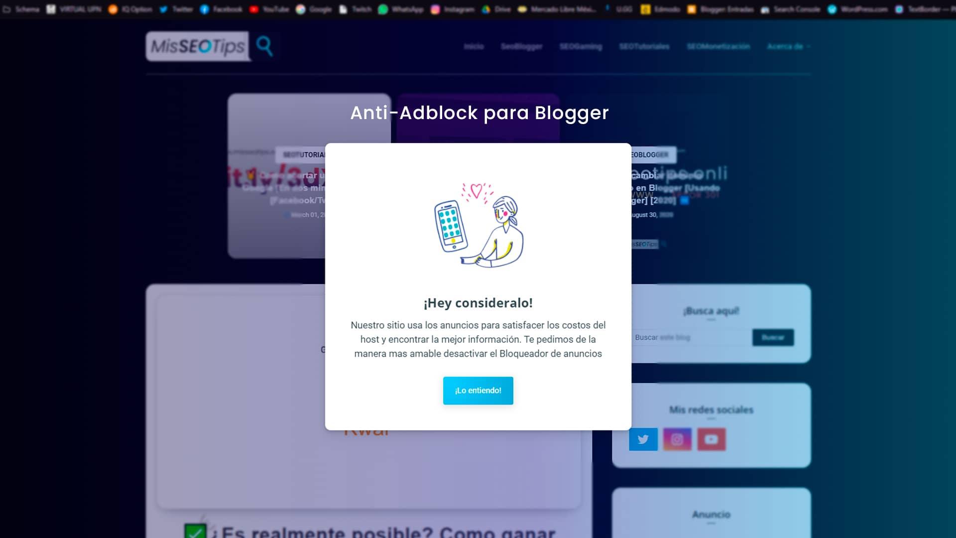 Anti-Adblock para Blogger gratis