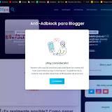 ¡Más tráfico! ✅: Como colocar un Anti-Bloqueador de anuncios en Blogger ⛔