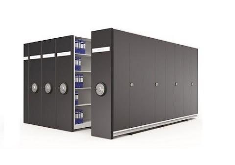 Dörtlü Kompakt Arşiv Dolabı Sistemi