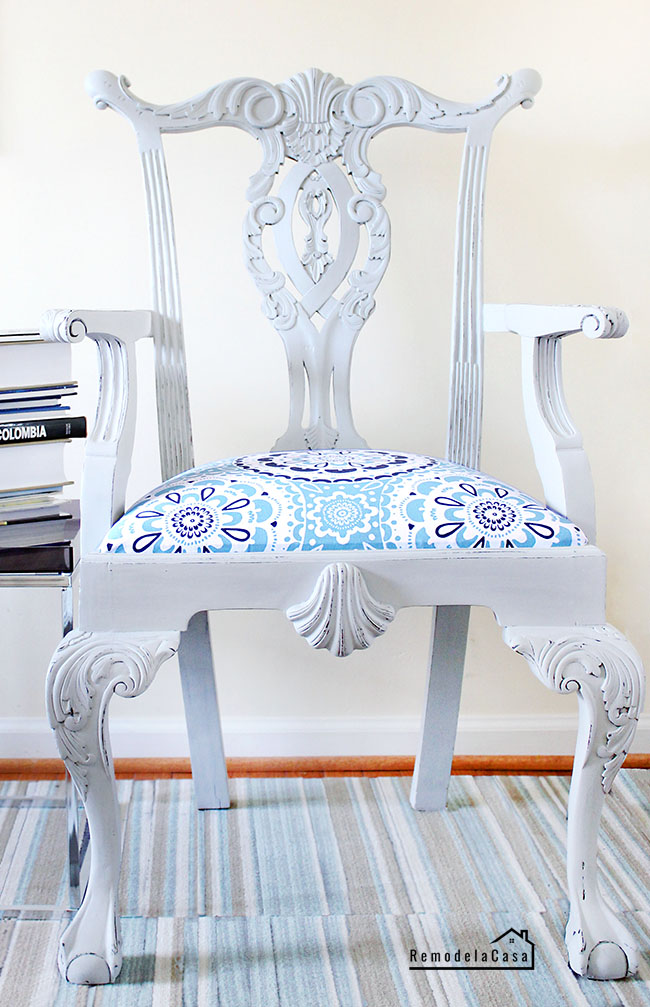 how to paint a Chippendale chair