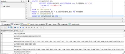 Oracle PL/SQL XMLAGG Kullanımı ve Sayısal Veri Üzerinde İşlem Yapmak