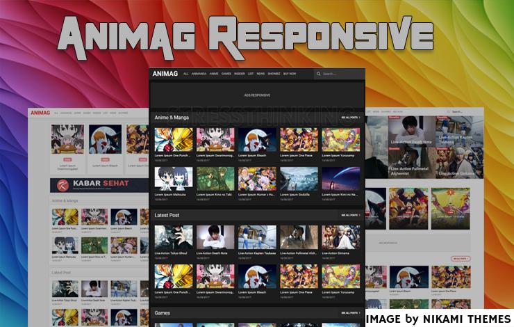 Animag Pro Responsive Blogger Template