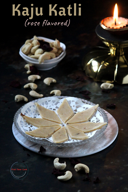 Kaju Katli | Cashew Fudge (rose flavored)
