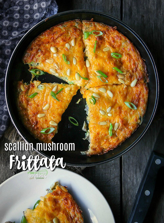 Scallion-Mushroom Frittata recipe