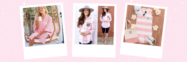 pink spring monograms you'll love for Easter