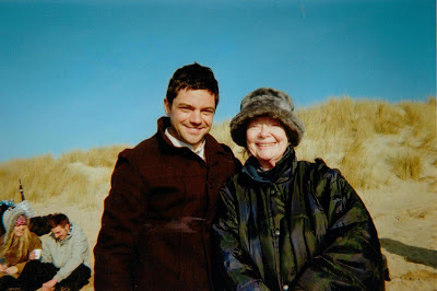 Dominic Cooper as AJ Munnings with Daphne Neville who plays a bird-watcher in 'Summer in February'