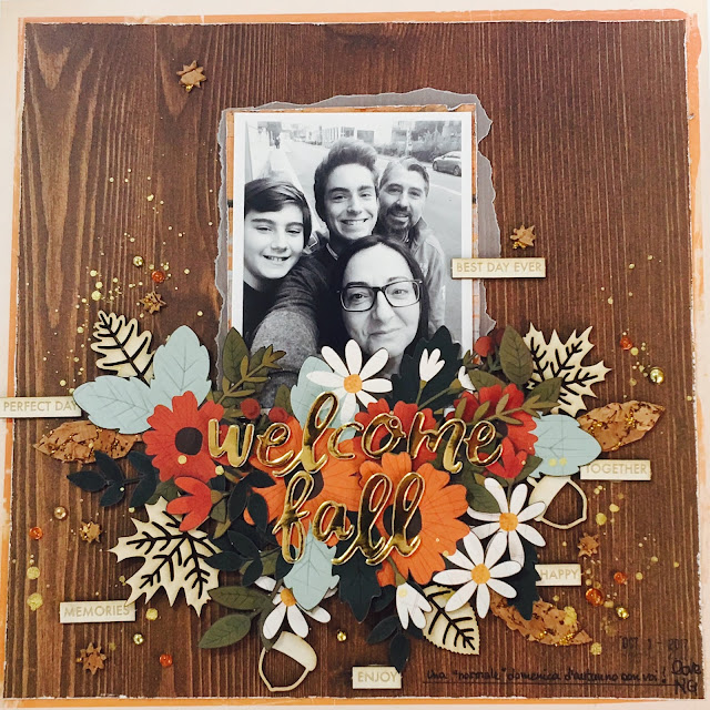 Welcome Fall Scrapbook Layout by Angela Tombari for Yuppla Craft DT