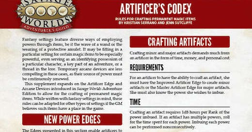 Artificer S Codex Rules For Crafting Permanent Magic Items