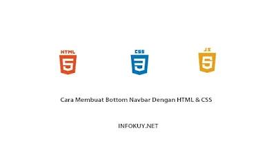 Cara Membuat Bottom Navbar Dengan HTML dan CSS