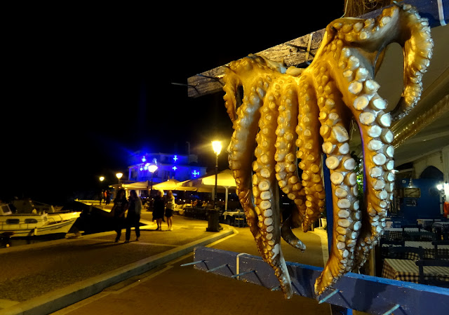 Octopus Fish Market - Old Port in Skiathos Island, Greece