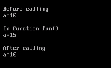 Call by Value in C