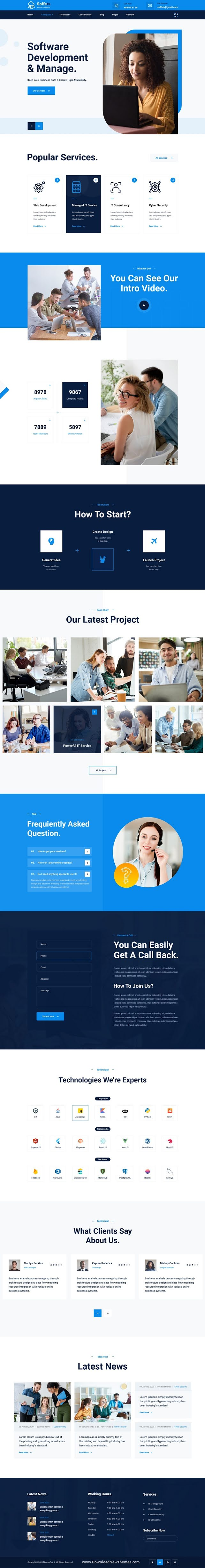 Software and IT Service PSD Template