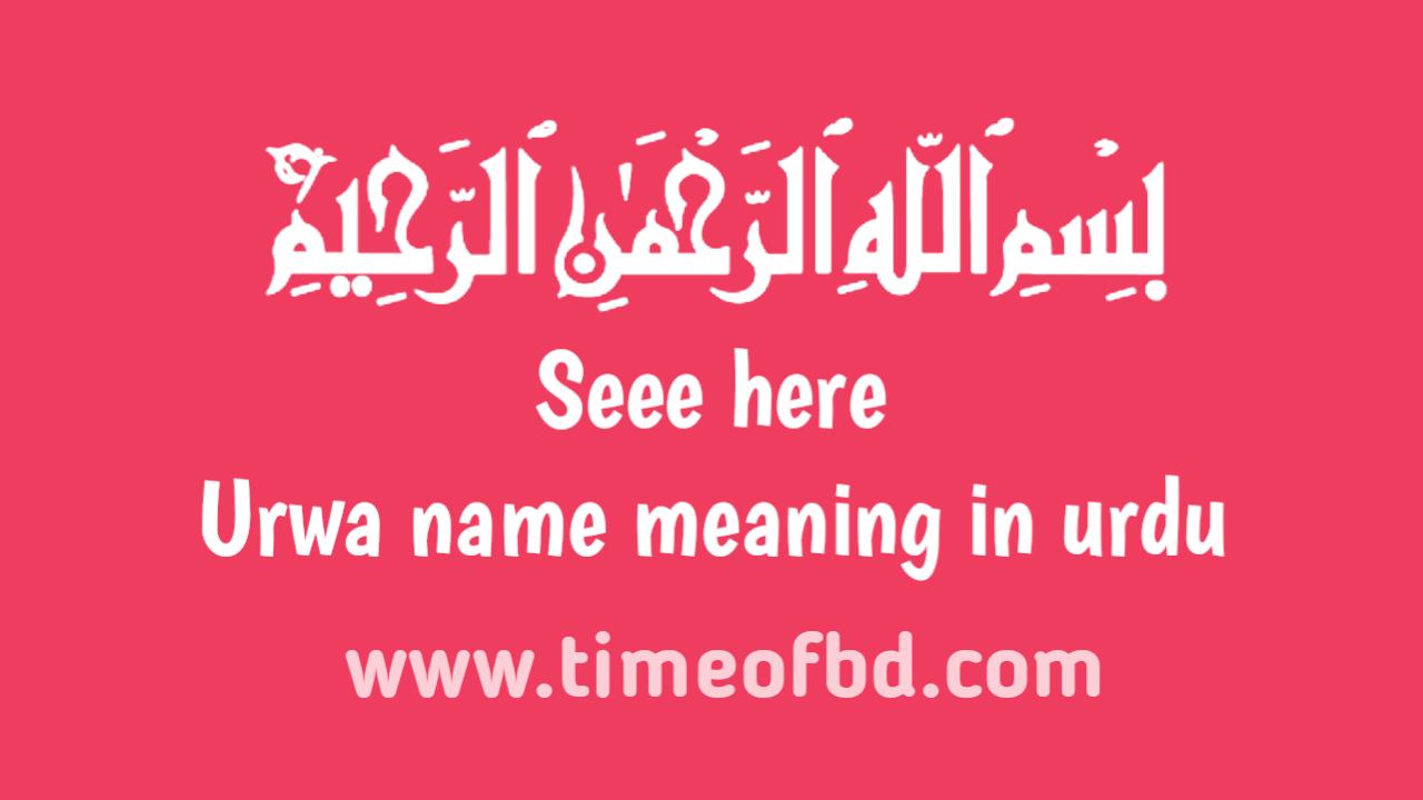 Urwa name meaning in urdu, ارودو نام کا مطلب اردو میں ہے