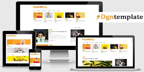 Inspiro Blogger Template | A Professional Theme
