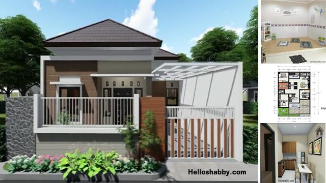 Desain Dan Denah Rumah 9 X 13 M Dengan 3 Kamar Tidur Dan Desain Interior Lengkap Helloshabby Com Interior And Exterior Solutions