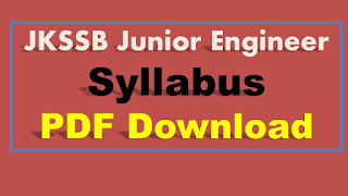 JKSSB JE Syllabus PDF Download