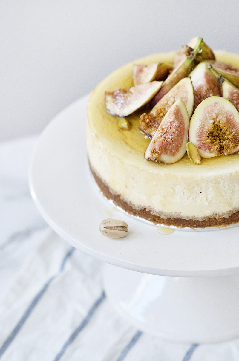 Italian Ricotta Cheesecake with Figs and Honey | Obsessive Cooking Disorder