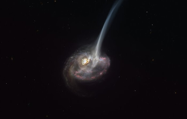 Galactic Death Rattle: Far Away Galaxy Begins Dying Due to Collision