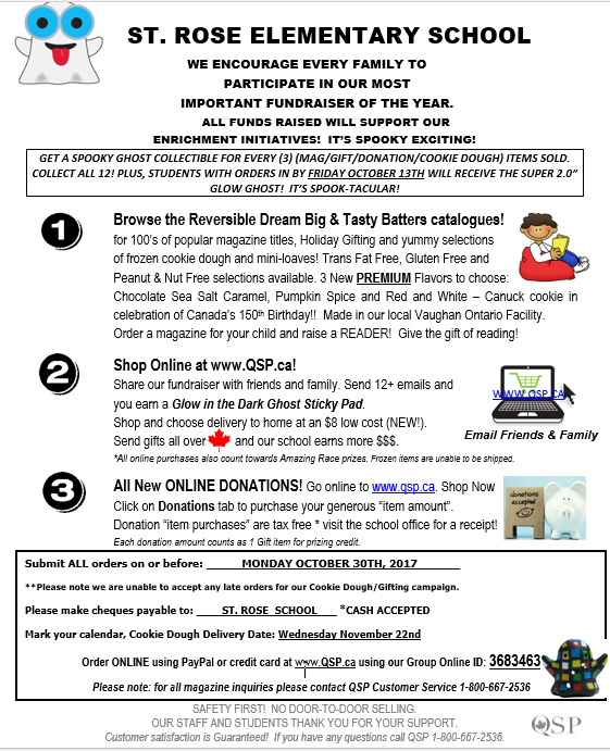 Qsp fundraiser prizes