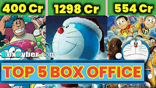 Top 5 Highest Grossing Worldwide Films Of Doraemon - Box Office Collection